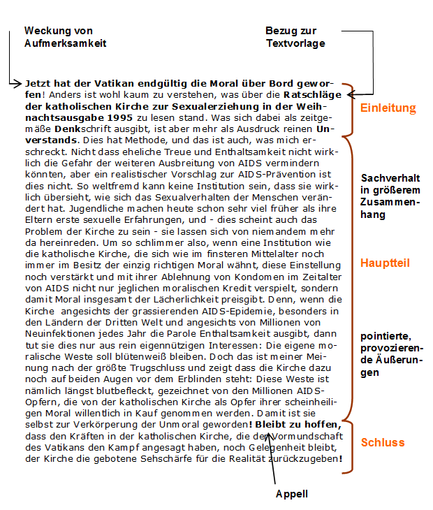 Modelo De Leserbrief Auf Deutsch Bewerbung