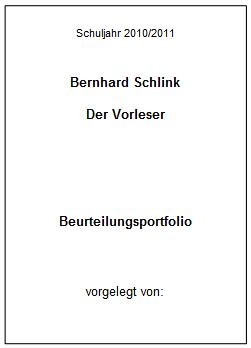 Baustein 6 Bernhard Schlink Der Vorleser